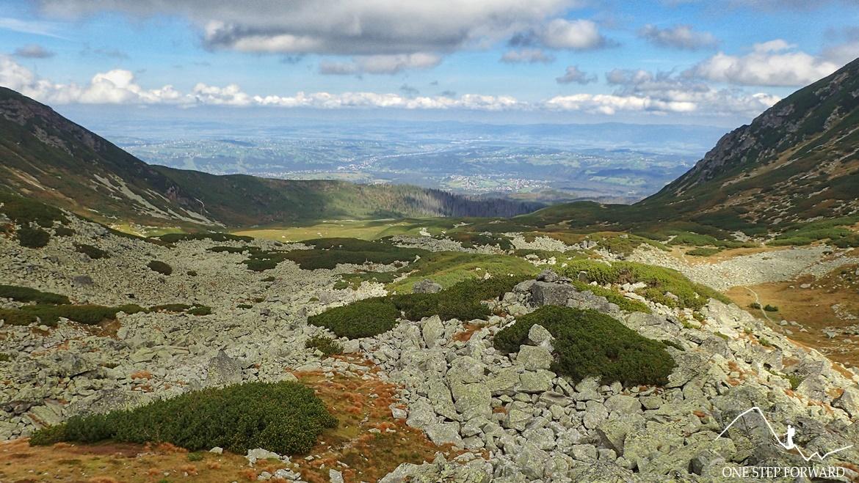 Widok na Dolinę Pańszczycy - podejście na Krzyżne