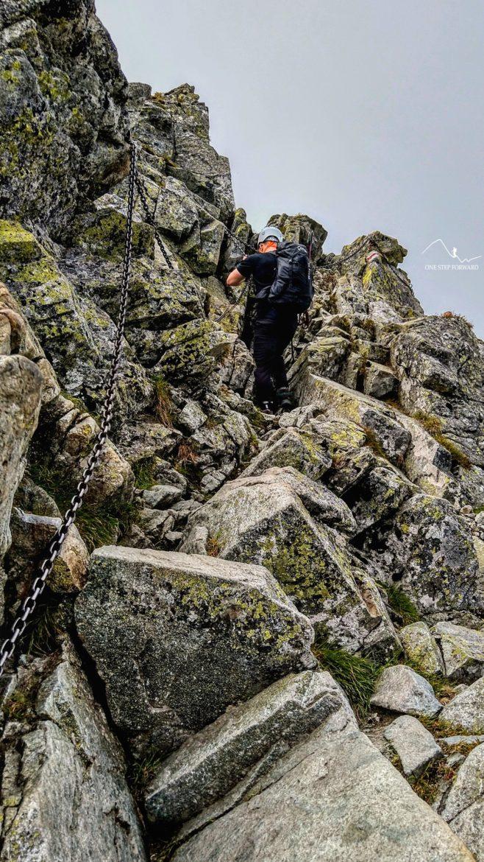 Fragment szlaku znajdującego się nad Przełączką - szlak na Rysy