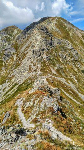 Smutna Przełęcz - widok z zejścia z Rohacza Płaczliwego