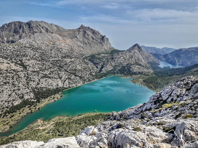 Sa Rateta - panorama ze szczytu - Ruta de Tres Miles, Majorka