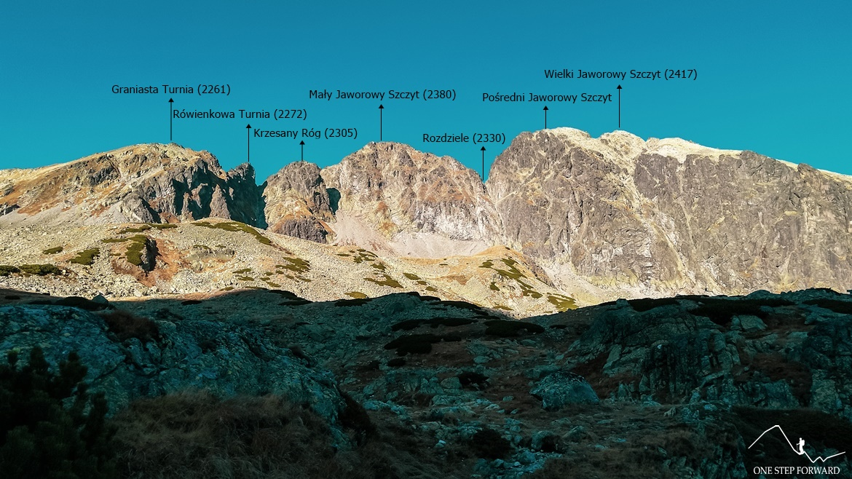 Dolina Staroleśna - widok w kierunku Jaworowych Szczytów i Graniastej Turni