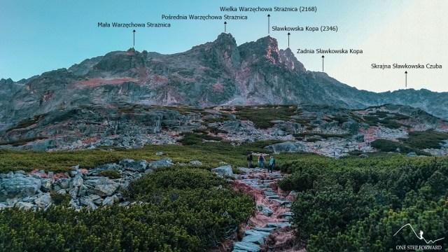 Dolina Staroleśna - widok na Warzęchowe Strażnice