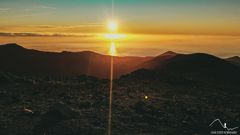 Wschód słońca - Pico de la Zarza, Fuerteventura