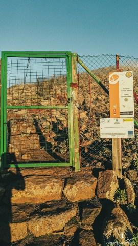 Zielona bramka w drodze na Pico de la Zarza, Fuerteventura