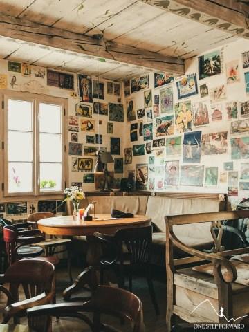 Cafe Arka w Lanckoronie - wystrój wewnętrzny