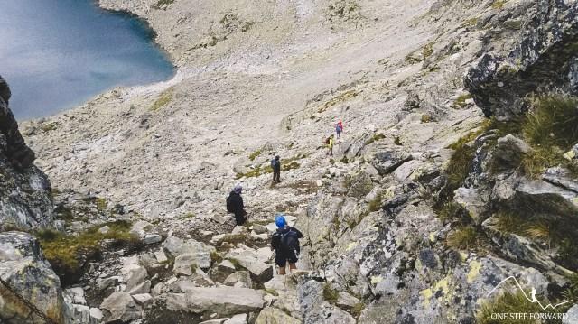 Zejście do Doliny Furkotnej z Bystrej Ławki