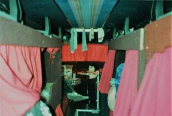 Tour bus.... wet gig clothes