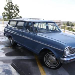 Rental car, chevy Nova Wagon