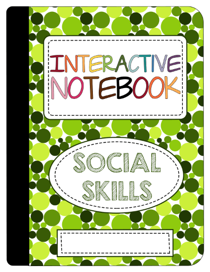 New Product :: Interactive Social Skills Notebook