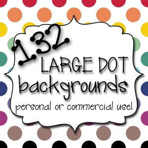 Large Dot Background Cover