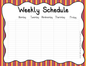 Weekly Schedule Warm