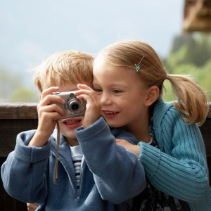 Siblings Taking a Picture