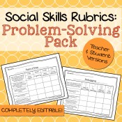 Problem Solving Social Skills Rubrics