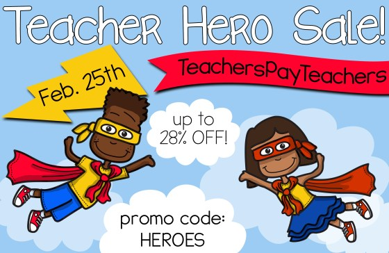 Teacher Hero Sale