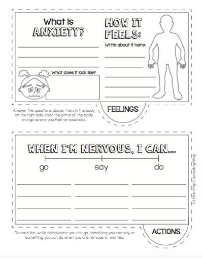 Anxiety Tab Book