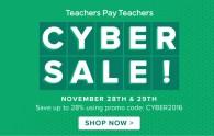 TpT Cyber Monday Sale!