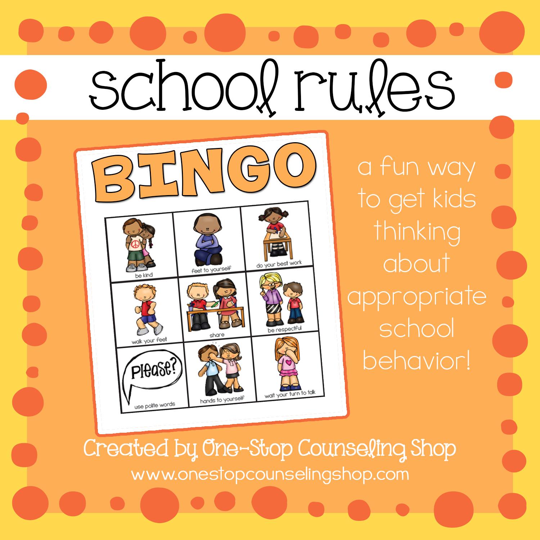 Product Spotlight School Rules Bingo