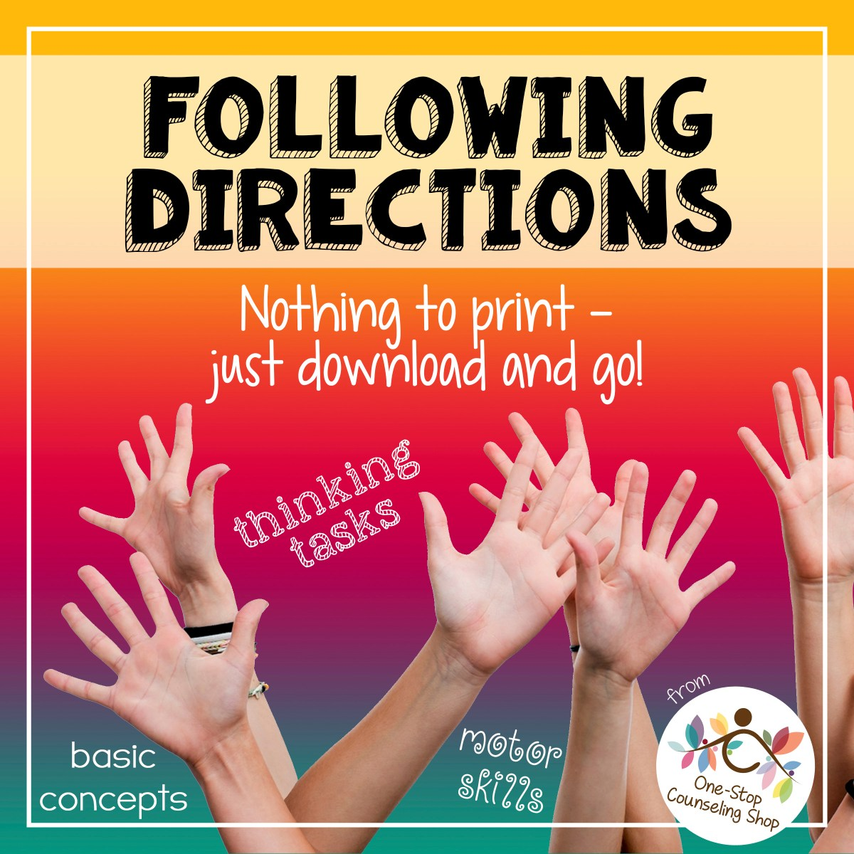 New Product :: Following Directions Game & No-Print Version