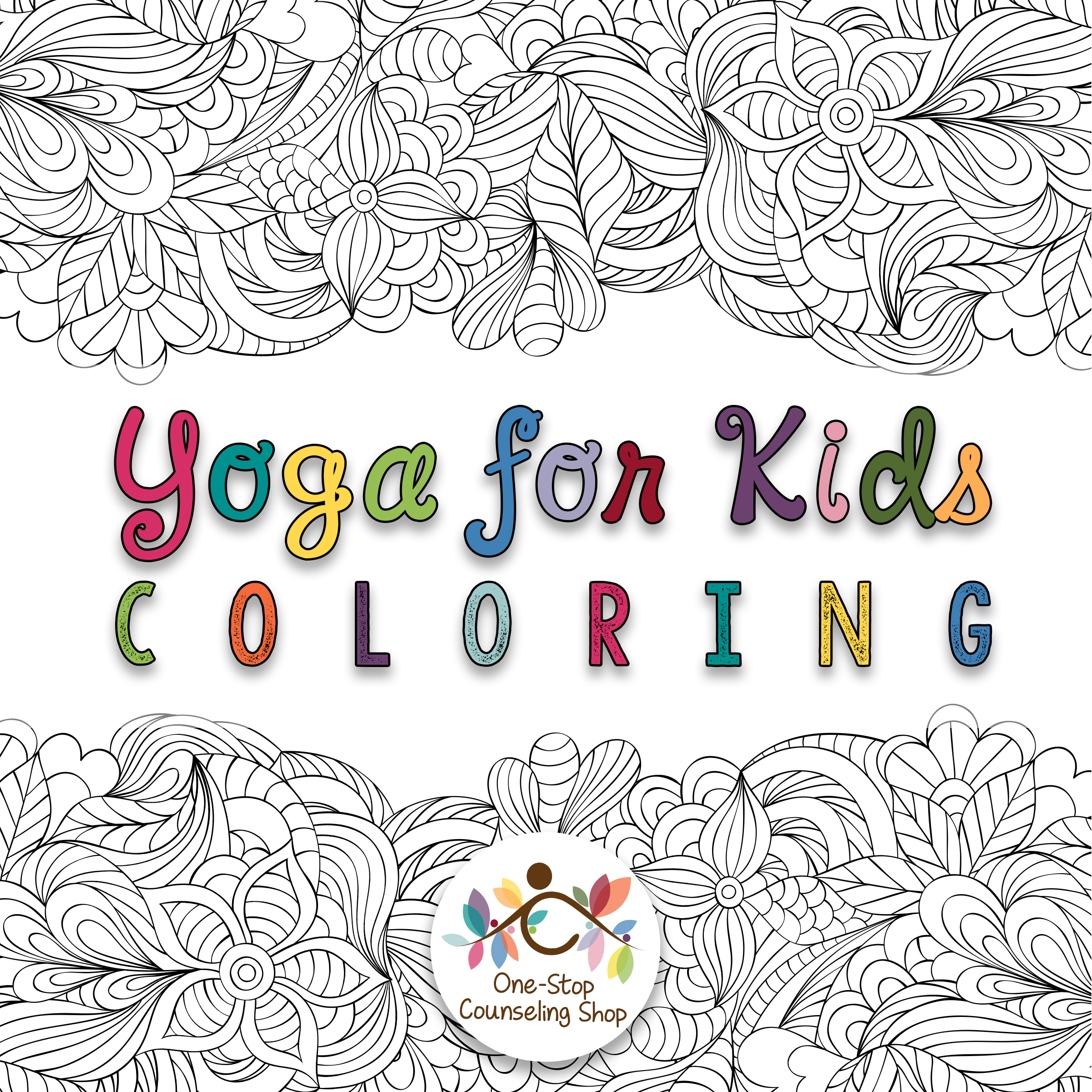 Yoga For Kids Mindful Coloring Pages