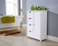 White Bathroom Multi Storage Unit - One Stop Furniture Shop