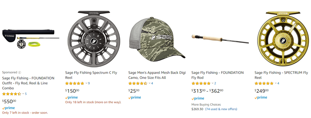 Sage Fly Fishing Gear