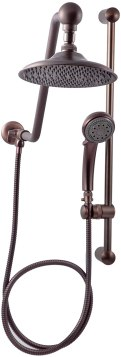 Atlantis 7 Oil Rub Bronze Rain Shower Head