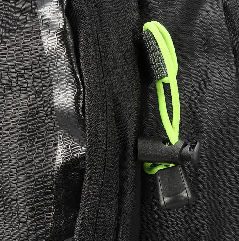 A image showing the straps on a travel backpack