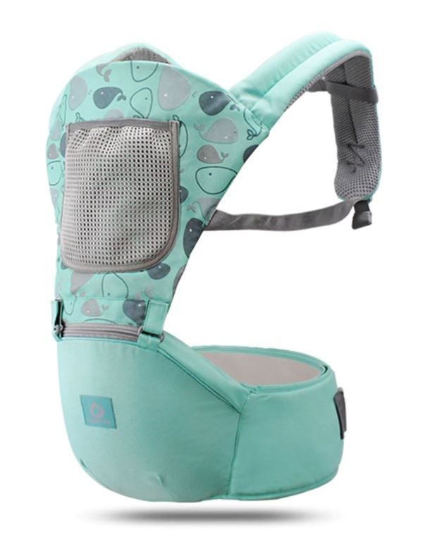 Fully View of Mint Green colored baby carrier.