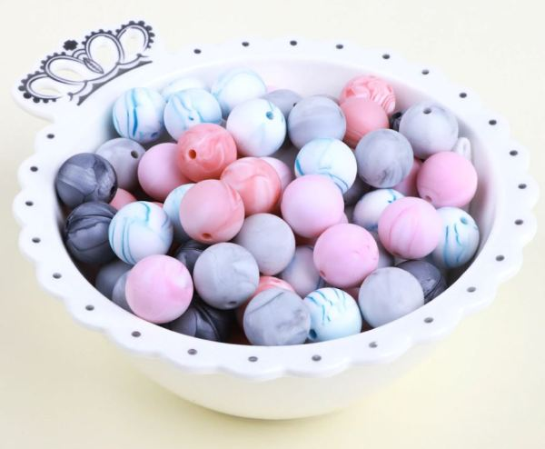 Blue Bowl of beads