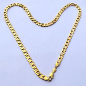 Heart design gold plated necklace
