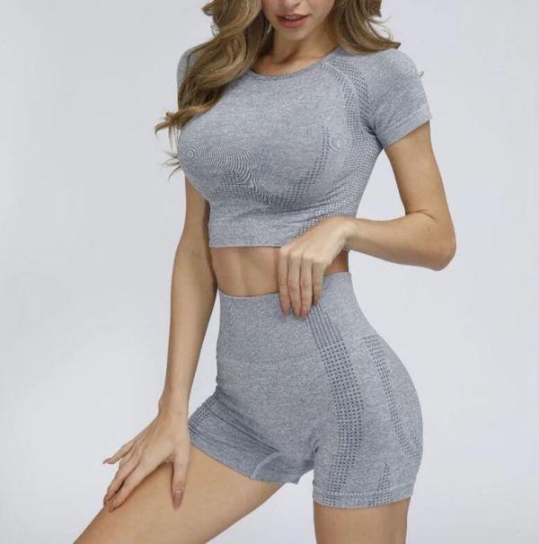 Grey Short Yoga Set