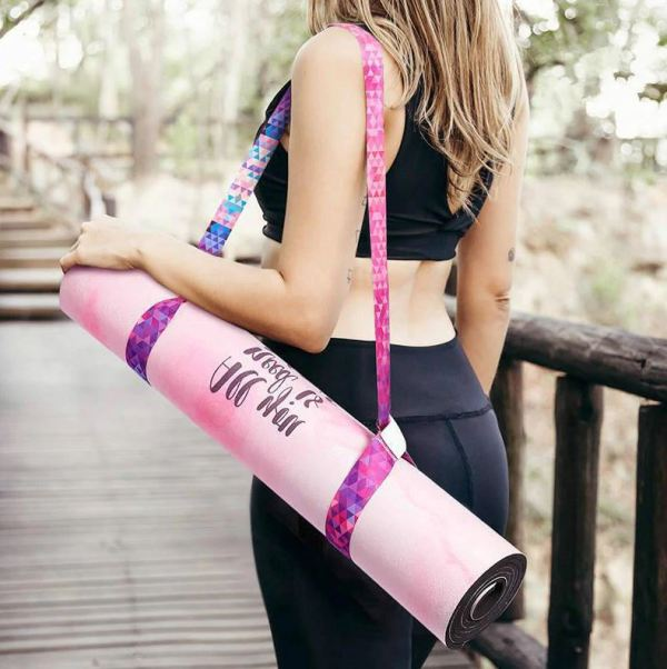 Strap for your yoga mat in pink
