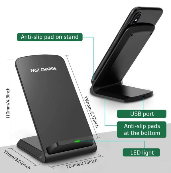 iphone charging dock is anti-slip surface.