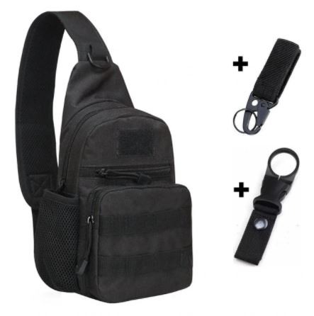 Black Backpack with Hooks
