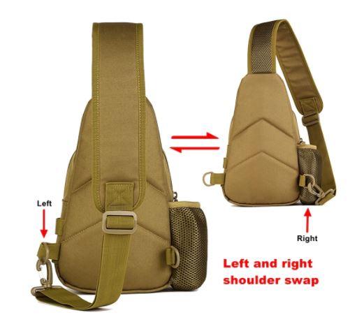 Left and Right Shoulder Strap for Men's Backpack