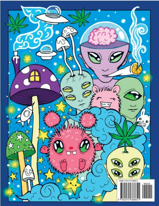 The Stoner's Psychedelic Coloring Book for Adults one pageimage