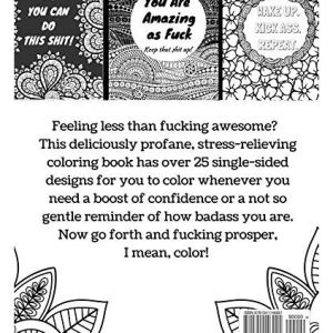 You Are Fucking Awesome Adult Coloring Book Page