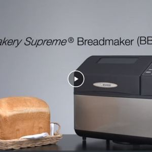 Zojirushi Bread Making Machine with loaf of freshly baked bread