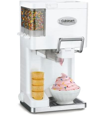 Cuisinart Ice Maker with cones and sprinkles