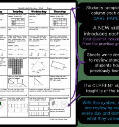 Spiral Math Homework to Reinforce Standards   One Stop Teacher Shop [ 965 x 1224 Pixel ]