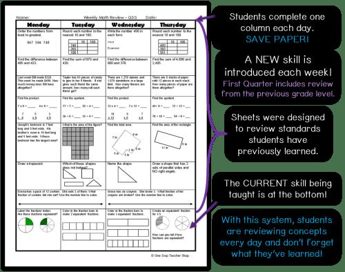small resolution of Spiral Math Homework to Reinforce Standards   One Stop Teacher Shop