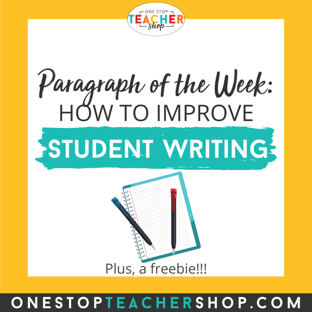 medium resolution of Paragraph of the Week: Improve Student Writing   One Stop Teacher Shop