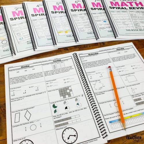 small resolution of Math Spiral Review \u0026 Quizzes   Homework or Morning Work