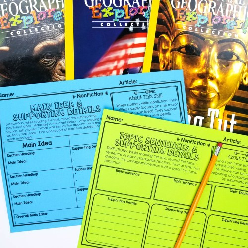These reading response activities make fiction and nonfiction reading meaningful. Learn how these reading graphic organizers can take the stress out of reading centers and guided reading lessons. Includes tons of anchor charts and comes with a digital version for Google Slides and Google Classroom!