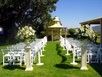 Classic outdoor wedding ceremony setting - One Stop ...