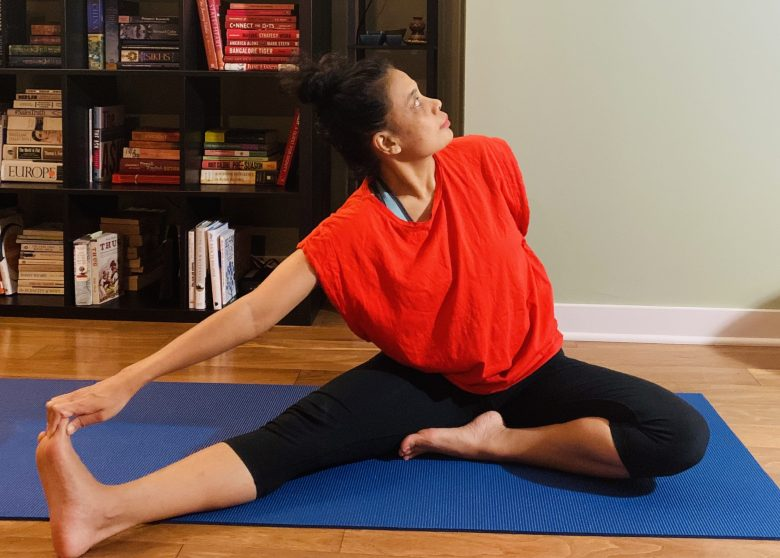 Yoga pose for opening up the Root Chakra