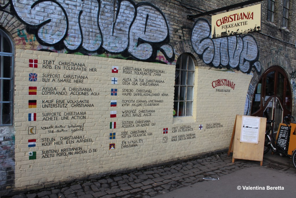 christiania artisti muro entrata