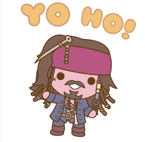 Disney Pirates of the Carribean Dead Men Tell No Tales Captain Jack Sparrow Sticker for iOS. Image via Disney Studios AU | onetakekate.com