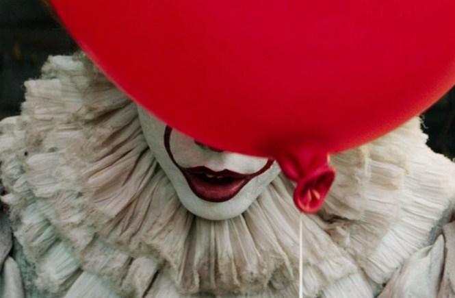 Bill Skarsgård as Pennywise the Clown in IT Image via Roadshow Films | IT movie | onetakekate.com