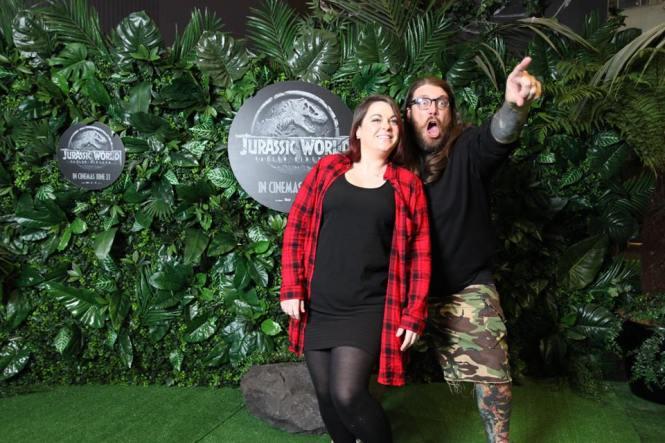 One Take Kate and Basketball Yeti at the NZ Premiere of Jurassic World Fallen Kingdom. Image via 20th Century Fox NZ | onetakekate.com